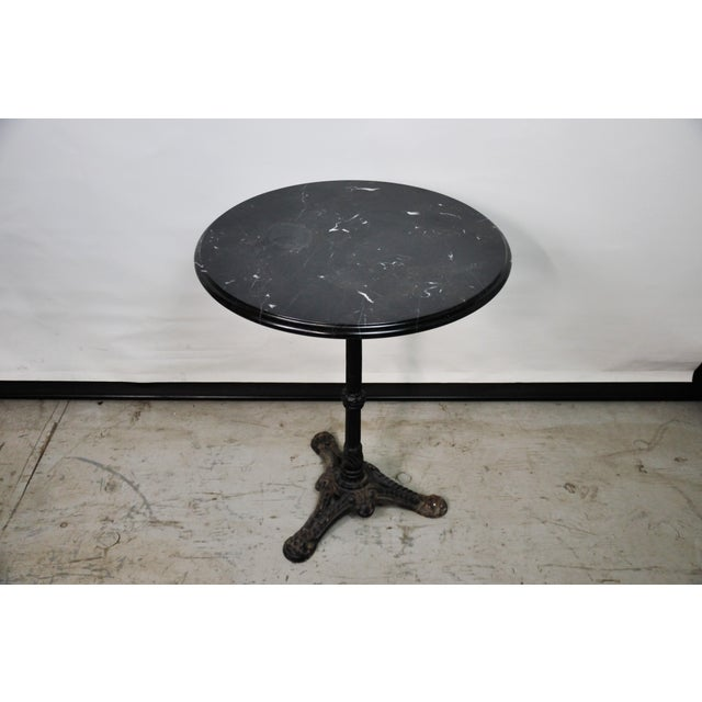 Italian Black Marble Bistro Table For Sale - Image 11 of 13