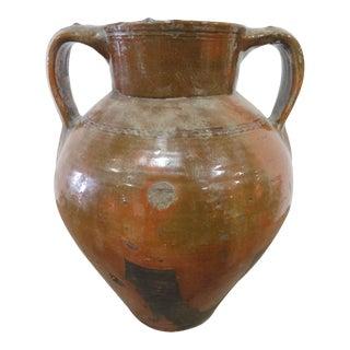 Antique Spanish Ceramic Puchero Stew Pot From Toledo For Sale