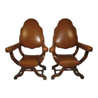 19th Century Italian Savonarola Chairs - a Pair For Sale