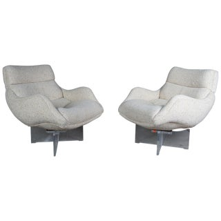 1960s Vladimir Kagan Cosmos Lounge Chairs- A Pair For Sale