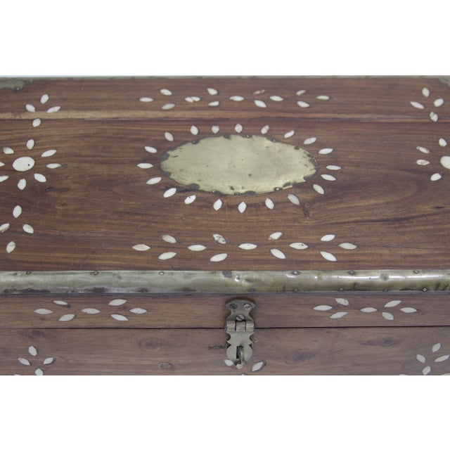 Anglo Indian Bone Inlaid Cash Box - Image 3 of 3