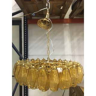 Amber Murano Glass With Gold 24k Frame Sputnik Chandelier Preview
