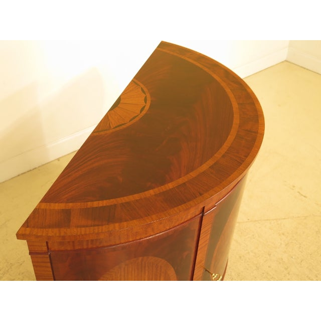 Federal 1990s Baker Historic Charleston 1/2 Round Mahogany Commode Server For Sale - Image 3 of 13