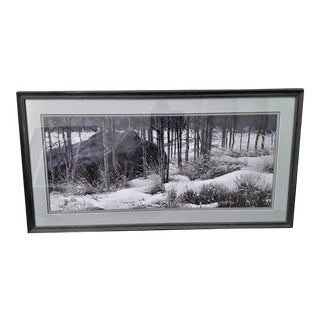 "Framed Stephen Lyman ""Winter Shadows"" Numbered Fine Print For Sale"