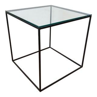 Minimalist Metal & Glass Table