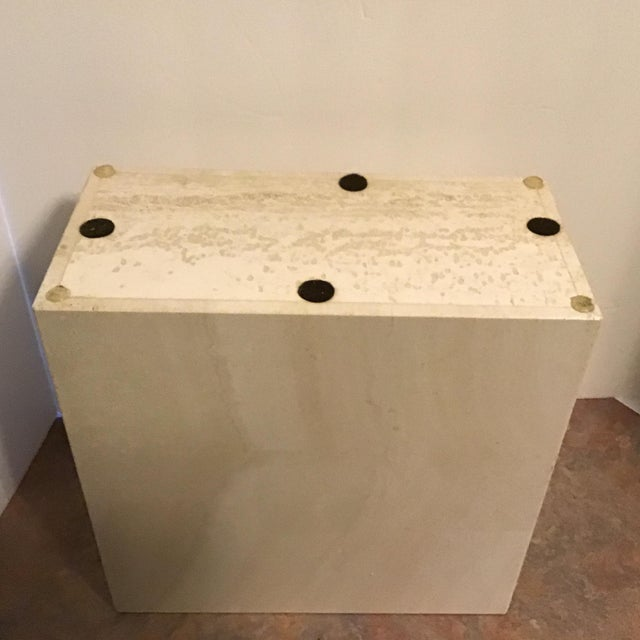 Mid 20th Century 20th Century Maitland Smith Tessellated Marble Stone Waste Basket For Sale - Image 5 of 6