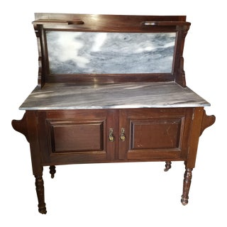 Marble Topped Antique Washstand