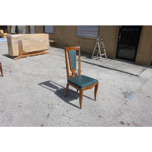Mahogany 1940s French Art Deco Solid Mahogany Dining Chairs by Jules Leleu - Set of 6 For Sale - Image 7 of 13