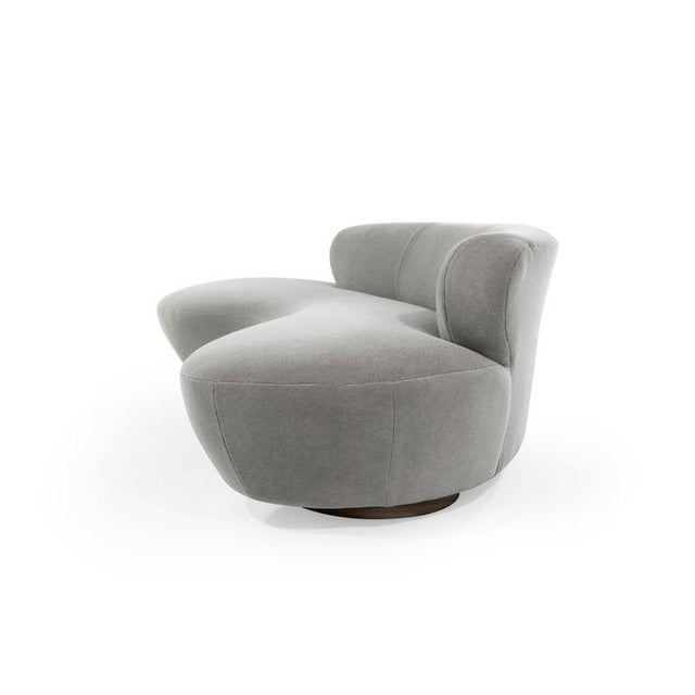 Vladimir Kagan Mohair Cloud Sofa on Walnut Bases by Vladimir Kagan for Directional For Sale - Image 4 of 13