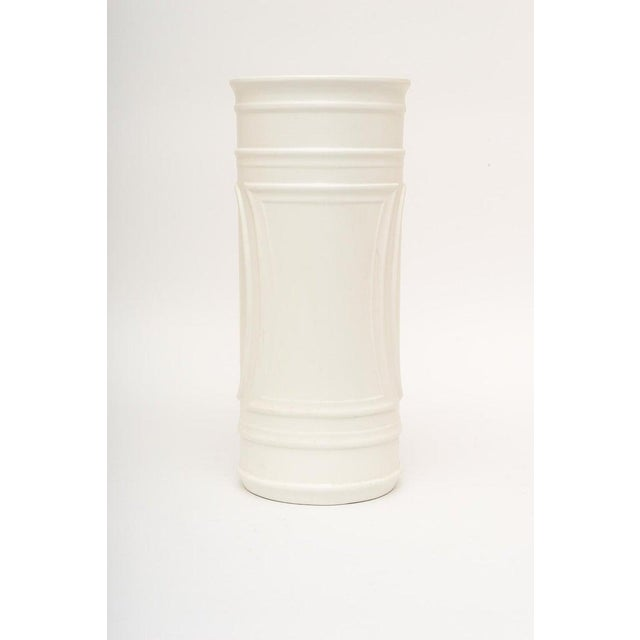 1960s 1960s White Umbrella Stand in Glazed Pottery For Sale - Image 5 of 9
