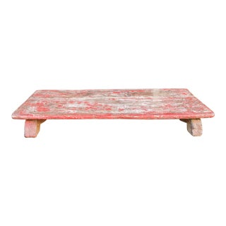 Traditional Cardinal Wooden Bajot Table For Sale