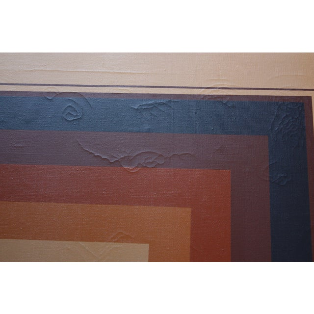 e37d2c6d13e6 Oil on Canvas Geometric Op Art by Letterman For Sale In New York - Image 6