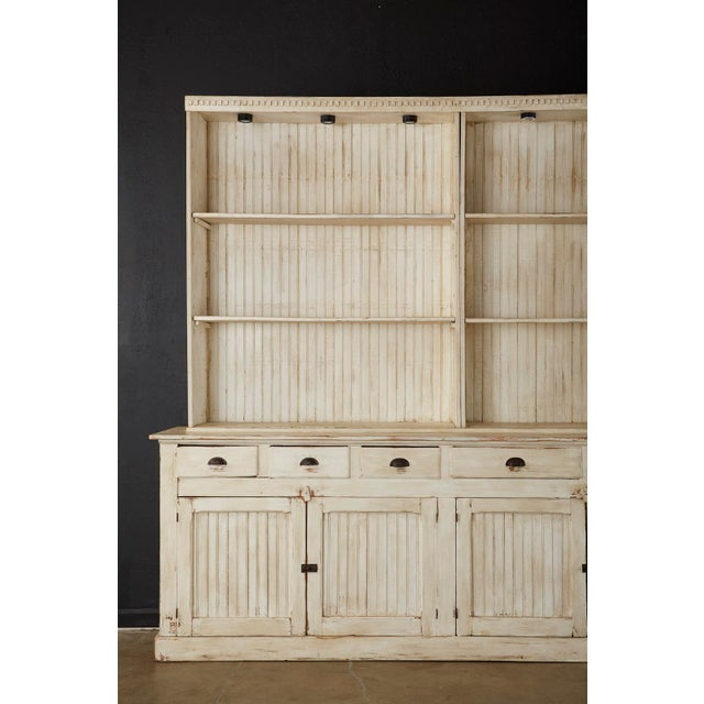 American American Painted Pine Kitchen Cabinet Cupboard or Bookcase For Sale - Image 3 of 13