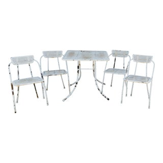 Mid Century Modern Metal Patio Furniture - Set of 5 For Sale