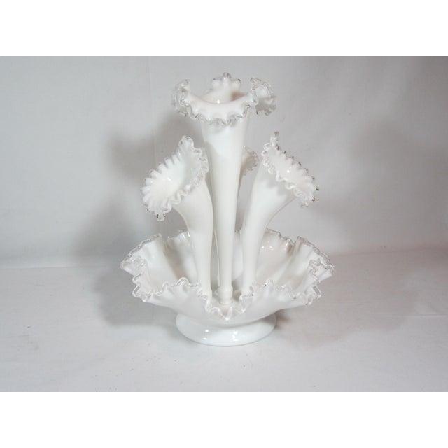 Fenton Epergne Ruffled Vase - Image 4 of 8