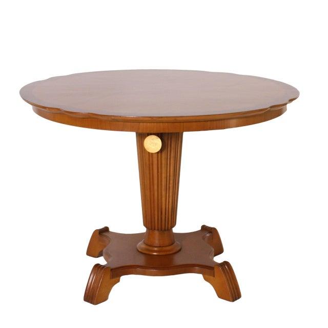 "Pair of round elm tables with pedestal, c. 1920 35.5"" diameter X 25.5""h"