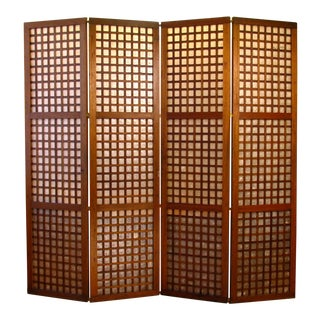 Vintage Tall Filipino Capiz Shell Window/Door Panels For Sale