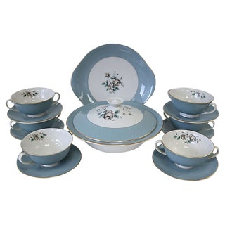 Royal Doulton Rose Soup Set, 14-Pcs For Sale