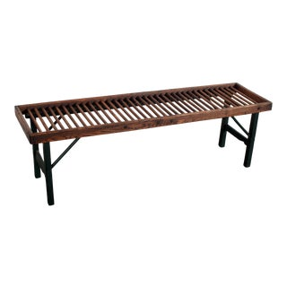 19th Century Antique Primitive Country Farm House Bench For Sale
