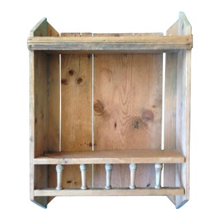Vintage Pine Open Wall Mounted Shelves For Sale