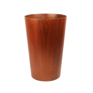 Scandinavian Modern Teak Wastebasket by Rainbow Wood Products For Sale