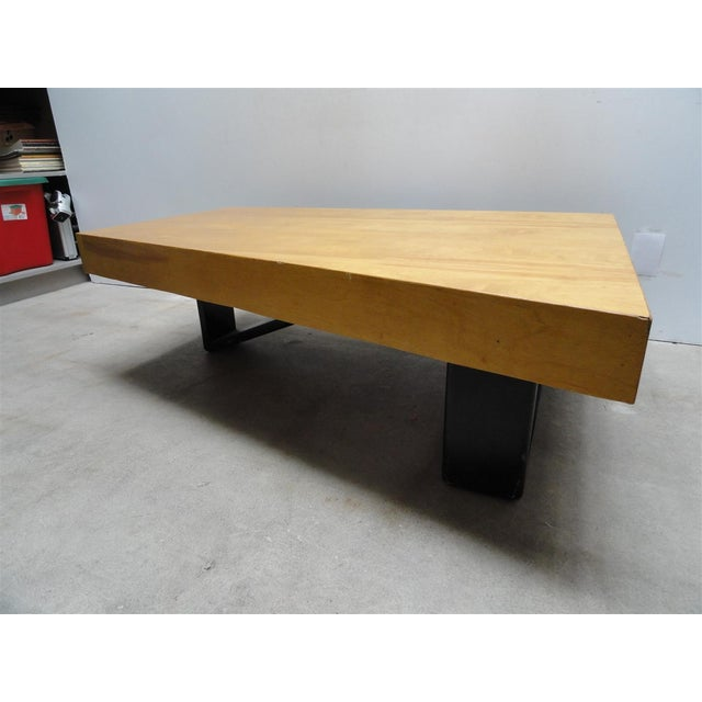 Art Deco Rare Barzilay Trapezoid Cocktail Table in Birch For Sale - Image 3 of 10