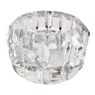 Vintage Orrefors Faceted Crystal Bowl