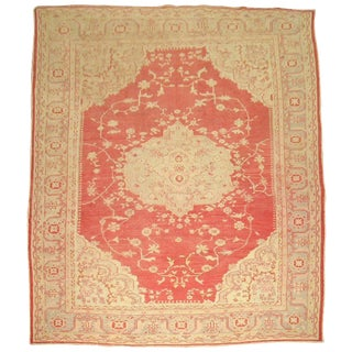 Antique Turkish Oushak Rug - 10′3″ × 13′ For Sale