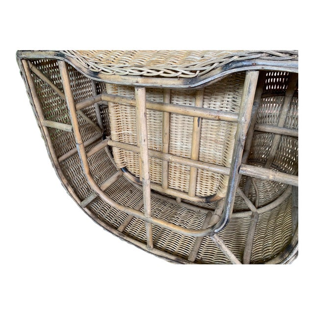 Sculptural Wicker Chair in the Manner of Michael Taylor For Sale - Image 9 of 9