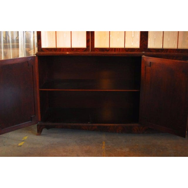 Historical George III Mahogany Display Cabinet Bookcase For Sale - Image 4 of 10
