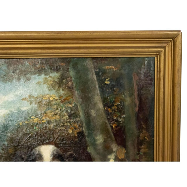 19th Century French Victorian Terrier Oil Painting For Sale - Image 5 of 7
