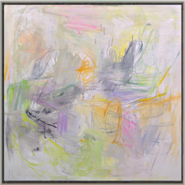"""2010s """"Sydney Sunrise"""" by Trixie Pitts Large Abstract Expressionist Oil Painting For Sale - Image 5 of 13"""