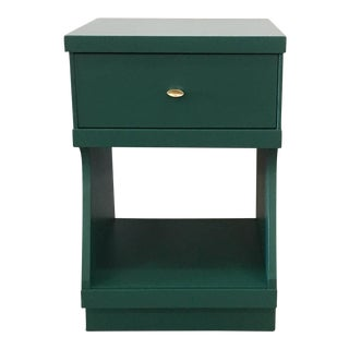 Green Lacquered Wood Nightstand
