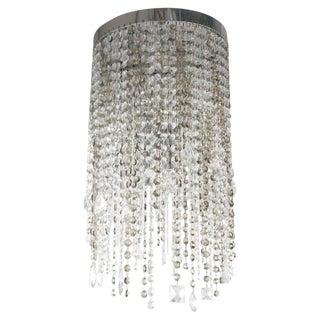 Swarovski Crystal Drop Flush Mount Chandelier by Fabio Ltd For Sale