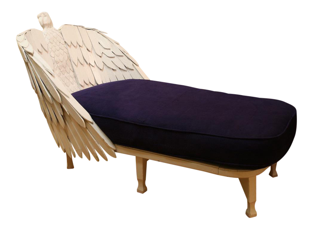 Antique Eagle Chaise Lounge
