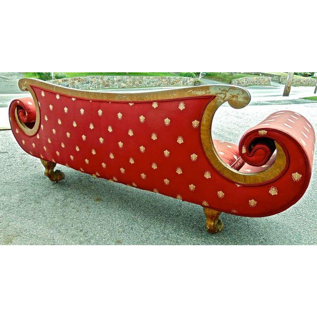 Early 19th Century English Regency Red Sofa For Sale - Image 10 of 11