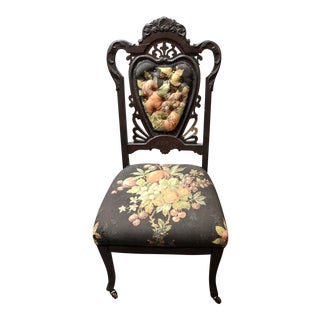 Vintage Victorian Side Chair For Sale