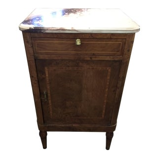 Louis XVI Night Stand Marble Top For Sale
