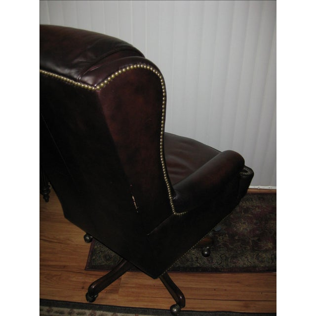 Hooker Leather Office Chair - Image 4 of 10