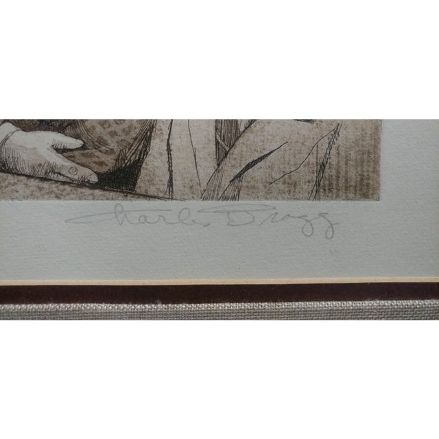Charles Bragg- Sequestered Jury - Original Hand Signed Etching For Sale - Image 4 of 8