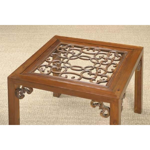 Asian Carved Side Table from China For Sale - Image 3 of 6
