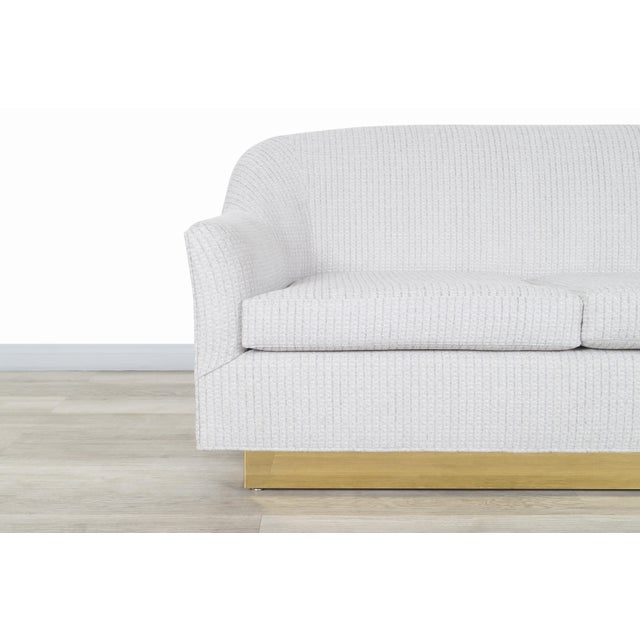 Vintage Brass Loveseat by Milo Baughman for Thayer Coggin For Sale In Los Angeles - Image 6 of 12