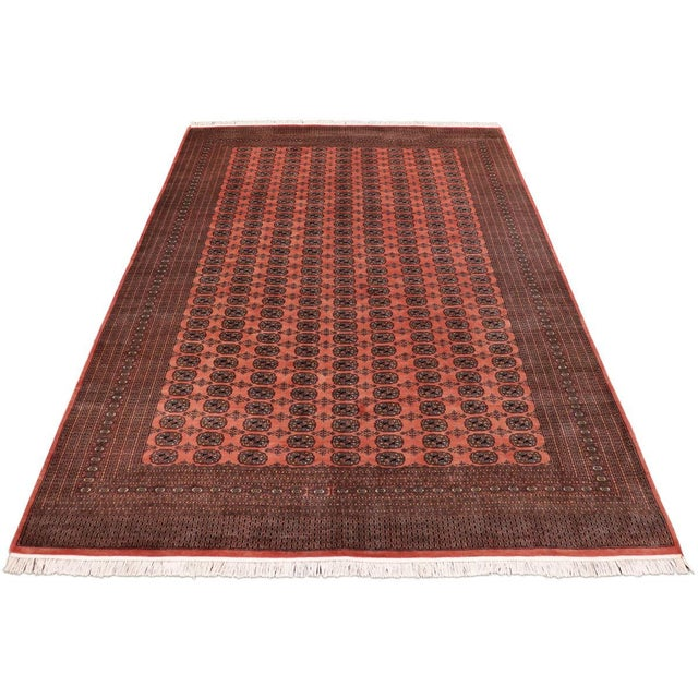 Rose Bokara Arya Leon Rose & Black Wool Rug - 9'4 X 11'11 For Sale - Image 8 of 9