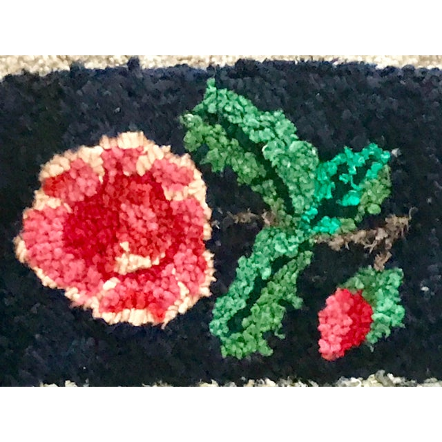 Early 20th Century Antique Hooked Rug - 4′3″ × 1′10″ For Sale - Image 4 of 8