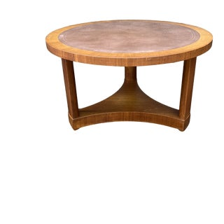 Mid Century Round Coffee Table by Dunbar Furniture For Sale