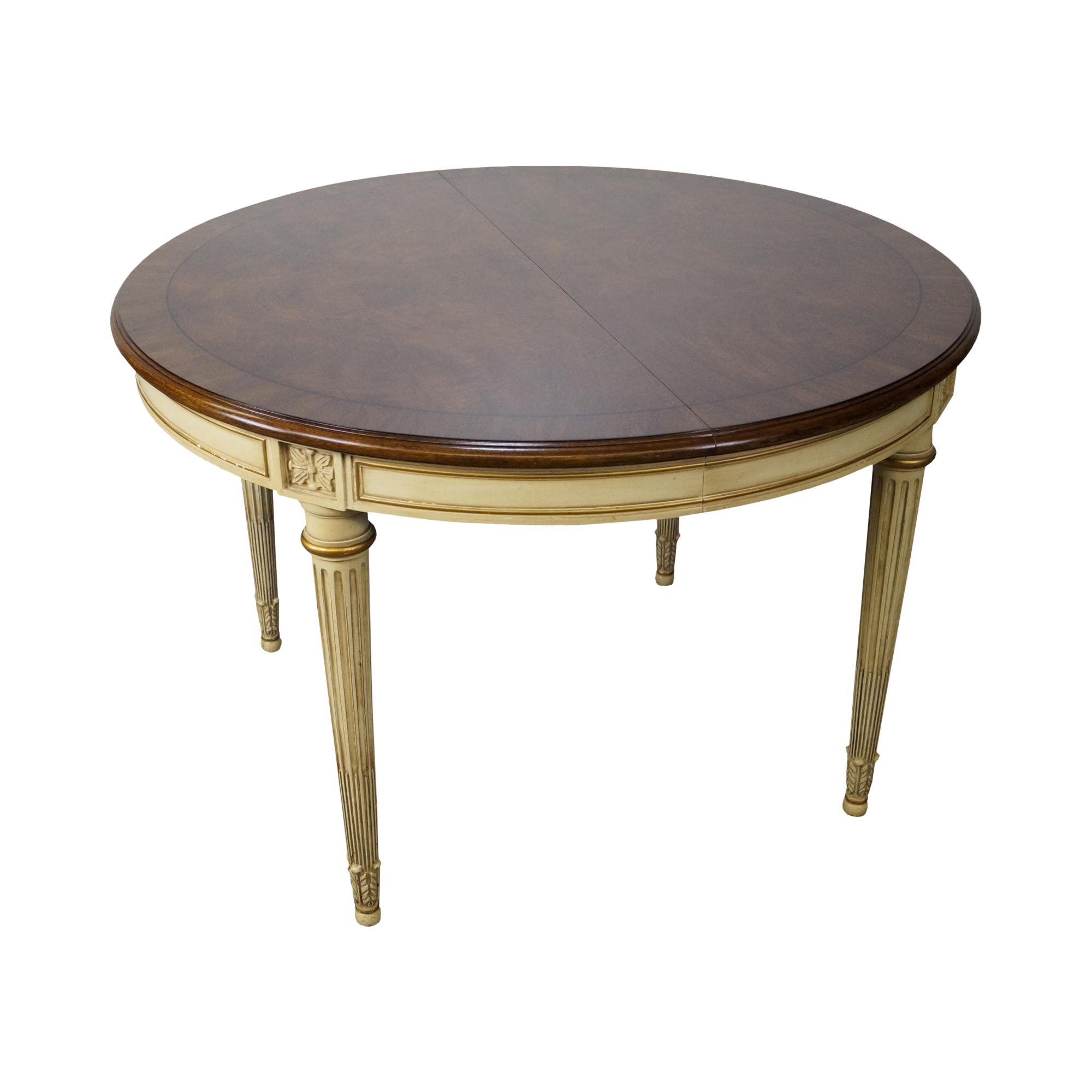 Karges Vintage French Louis XVI Style Round Walnut Dining Table