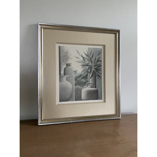 """A rare, low numbered mezzotint titled """"Flotation"""" from 1986 from noted artist Robert Kipness. The print is number 5 of 120..."""
