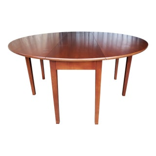 1990s Cherry Drop Leaf Dining Table For Sale