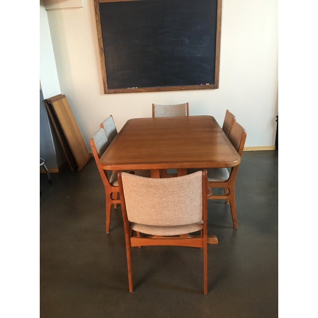 Gorgeous Vintage Teak Dining Table with 6 Chairs in perfect condition. Made in Denmark. Crafted by Taifo. Danish modern...