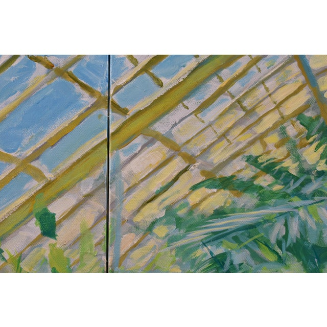 "Contemporary Large Painting, ""The Greenhouse"", by Stephen Remick For Sale In Providence - Image 6 of 13"